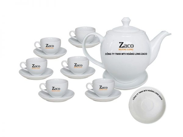 Bộ Trà Bát Tràng Dáng Minh Long Giá In Logo ZaKo