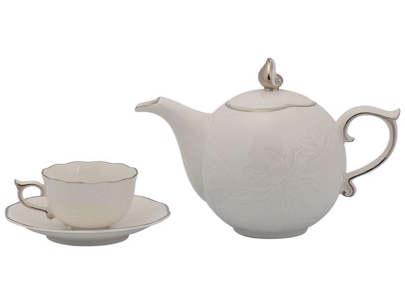 Bộ trà 0.7 L - Sen IFP - Chỉ Bạch Kim