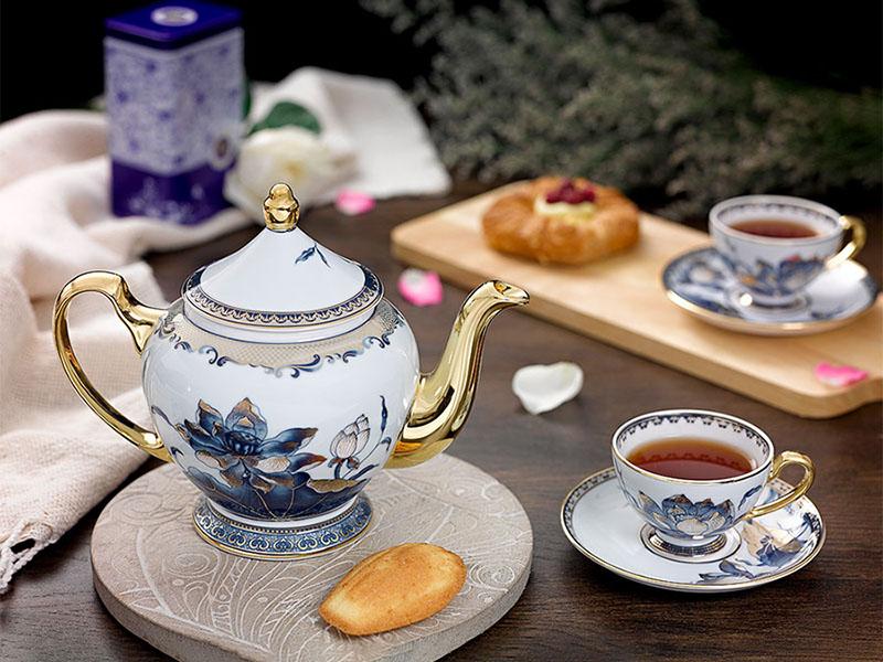 Bộ trà 0.8 L - Hoàng Cung - Sen Ngọc