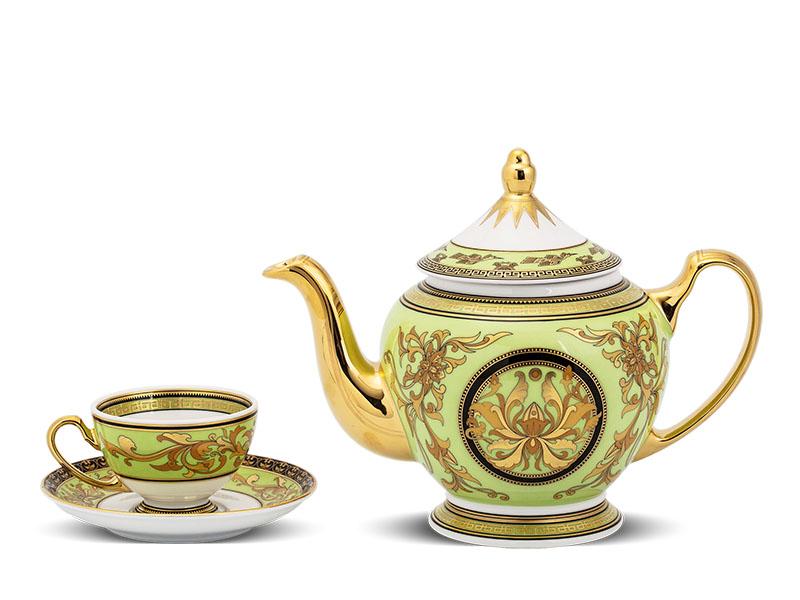 Bộ trà 0.8 L - Hoàng Cung - Thiên Hương (xanh lá)