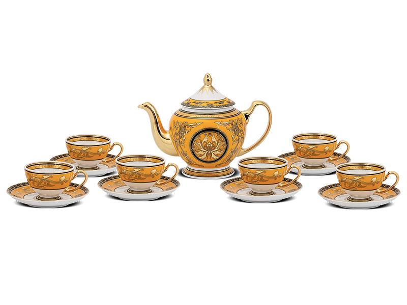 Bộ trà 0.8 L - Hoàng Cung - Hoàng Bào (sen)